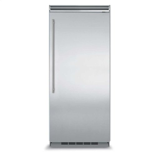 "Marvel Professional Built-In 36"" All Refrigerator - Solid Stainless Steel Door - Right Hinge, Slim Designer Handle"
