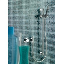 Mixer with hand shower and rail - Grey