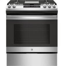 Slide-In Front Control, Premium Stainless Steel Appearance, 5.4 cu. Ft. Steam Clean
