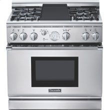 Professional Series 36 inch Dual-Fuel Commercial-depth Range PRD364EDG - Stainless Steel