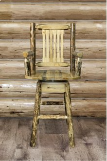 Glacier Country Captains Barstool with Swivel Seat