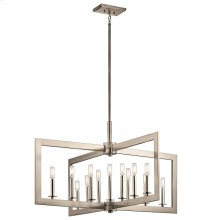 Cullen Collection Cullen 13 Light Linear Chandelier in CLP