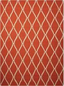 Portico Por02 Orange Rectangle Rug 5' X 7'6''