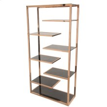 Guido KD Display Cabinet Black Glass, Rose Gold