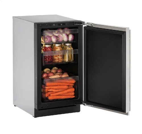 """Modular 3000 Series 18"""" Solid Door Refrigerator With Stainless Solid Finish and Field Reversible Door Swing"""