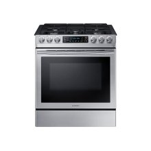 5.8 cu. ft. Slide-in Gas Range with Fan Convection in Stainless Steel