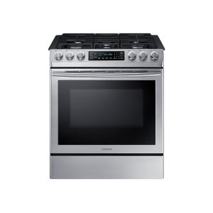 Samsung5.8 cu. ft. Slide-in Gas Range with Fan Convection in Stainless Steel