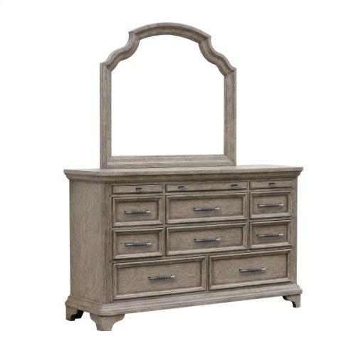 Bristol Beveled Dresser Mirror in Elm Brown