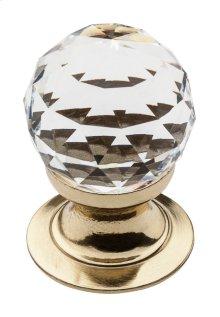 Polished Brass Swarovski Crystal Cabinet Knob