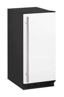 """1000 Series 15"""" Clear Ice Machine With White Solid Finish and Field Reversible Door Swing (115 Volts / 60 Hz)"""