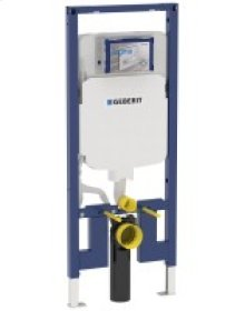 Duofix carrier for wall-hung toilet in 2x4 room-height wall construction, 1.28 / 0.8 GPF (4.8 / 3 LPF)