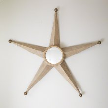 Five Point Star Mirror-Sandblasted Oak
