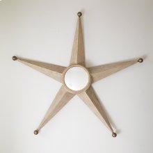 Five Point Star Mirror-Sandblasted Oak