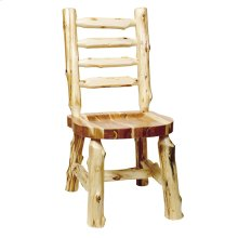 Ladder-back Side Chair - Natural Cedar - Wood Seat