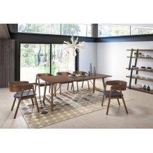 Modrest Oritz Mid-Century Modern Walnut Dining Set