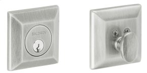 Satin Chrome Squared Deadbolt