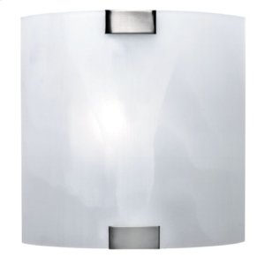 Wall Lamp, Ps W/cloud Glass Shade, 40w/b Type