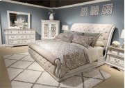 King Uph Sleigh Bed, Dresser & Mirror, NS Product Image