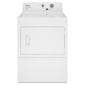 Whirlpool® Commercial Electric Super-Capacity Dryer, Non-Coin - White