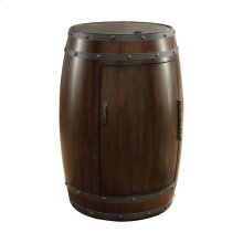 Wine Barrel Refrigerator, Dark Cherry