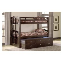 Espresso Twin over Twin Captain's Bunkbed (3340)