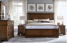 Latham Panel Bed w/ Storage Footboard, Queen 5/0