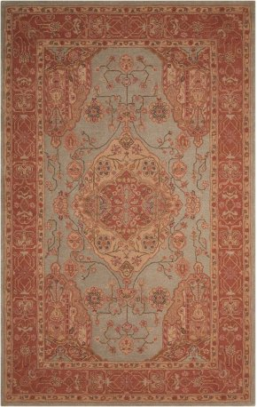Heritage Hall He16 Aqu Rectangle Rug 5'6'' X 8'6''