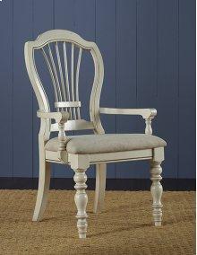 Pine Island Wheat Arm Chair - Old White