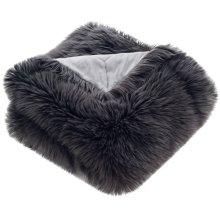 Faux Grey Shadow Fox - Dark Grey