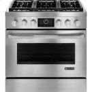 """Pro-Style® Dual-Fuel Range with MultiMode® Convection, 36"""", Pro-Style® Stainless Product Image"""