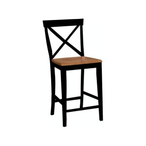 JOHN THOMAS FURNITUREX-Back Stool in Black & Cherry