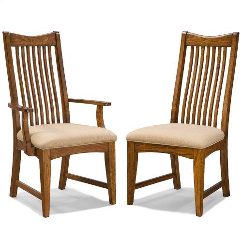 Pasadena Revival Slat Back Arm Chair