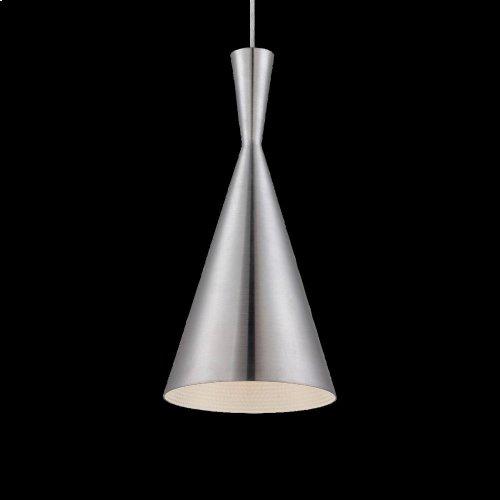 1-LIGHT PENDANT - Brushed Aluminum