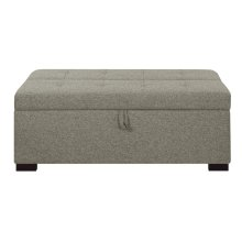 Gray Twin Sleeper Ottoman w/ Gel Mattress