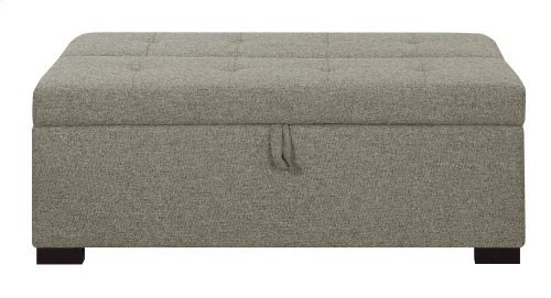 Emerald Home Cache I Twin Sleeper Ottoman W/gel Mattress Gray U3241-33-03