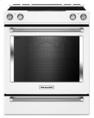 30-Inch 5-Element Electric Convection Slide-In Range with Baking Drawer - White Product Image