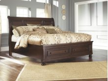Sleigh Storage Queen Bed