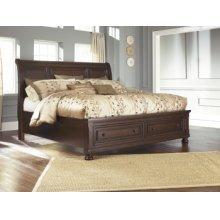 Sleigh Storage Queen Bed