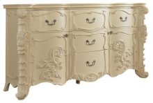 "Novara Pearl White Dresser - 70""L x 21""D x 39""H"