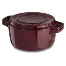 KitchenAid® Professional Cast Iron 4-Quart Casserole - Royal Red