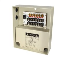 12VDC CCTV Camera Power Supply, 9 Channel 12VDC with 10A Output