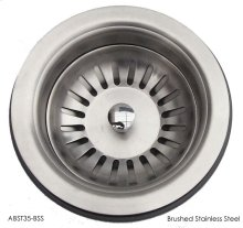 """ABST35-BSS Brushed Stainless Steel 3 1/2"""" Basket Strainer Drain"""