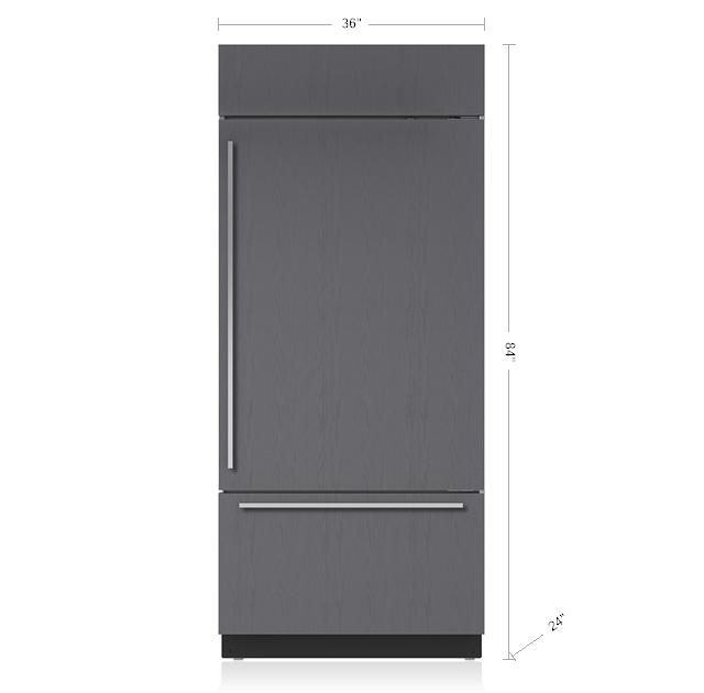 "Subzero36"" Classic Over-And-Under Refrigerator/freezer - Panel Ready"