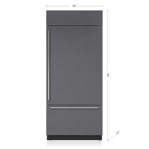 "Sub-Zero36"" Classic Over-and-Under Refrigerator/Freezer - Panel Ready"