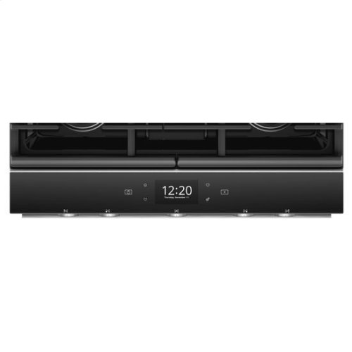 Whirlpool® 5.8 Cu. Ft. Smart Contemporary Handle Slide-in Gas Range with EZ-2-Lift™ Hinged Cast-iron Grates - Fingerprint Resistant Stainless Steel