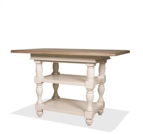 Coventry Counter Height Dining Table Weathrd Drftwd/Dover Whit finish