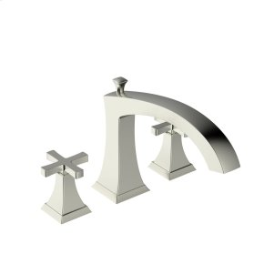 Roman Tub Faucet Leyden Series 14 Satin Nickel 1