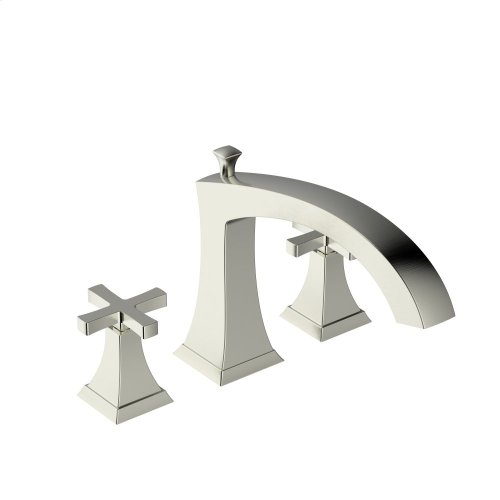 Roman Tub Faucet Leyden Series 14 Satin Nickel 1