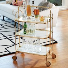 Plaza Bar Trolley-Brass