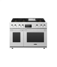 48-inch Gas Pro Range with 6 Burners and Griddle